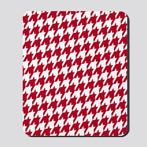 Crimson  White_big Mousepad