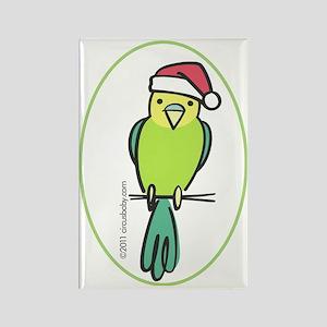 parakeet_green_orn Rectangle Magnet