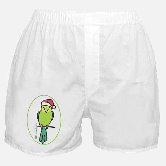 parakeet_green_orn Boxer Shorts