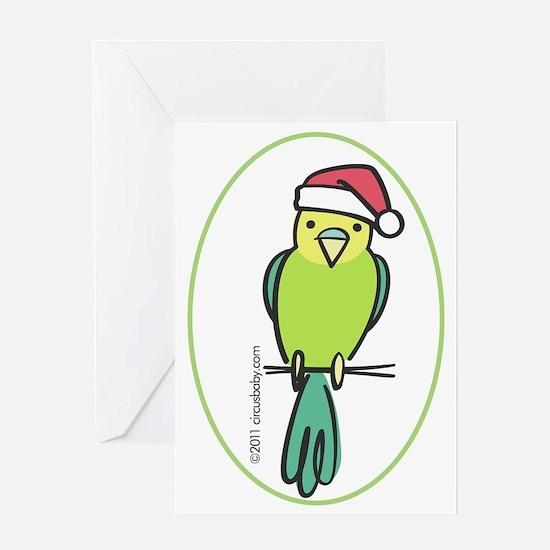 parakeet_green_orn Greeting Card