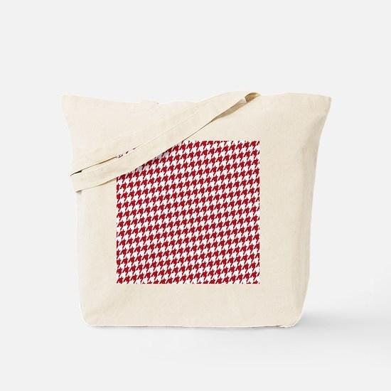 Crimson  White Tote Bag