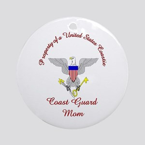 coast guard mom Ornament (Round)