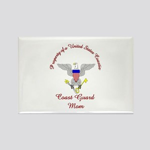 coast guard mom Rectangle Magnet
