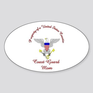 coast guard mom Oval Sticker