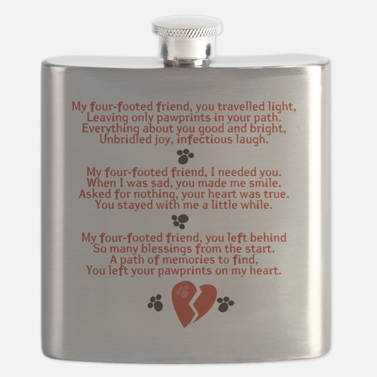 Celebrating the Life of a Four-Footed Friend Flask