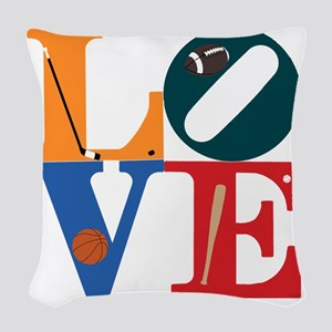 Philly Sports Love Woven Throw Pillow