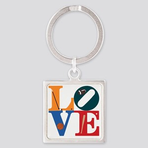 Philly Sports Love Square Keychain