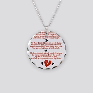 Celebrating the Life of a Fo Necklace Circle Charm