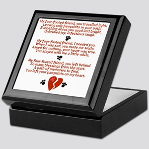 Celebrating the Life of a Four-Footed Keepsake Box