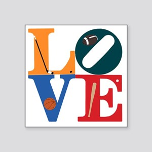"Philly Sports Love Square Sticker 3"" x 3"""