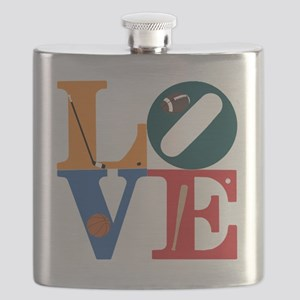 Philly Sports Love Flask