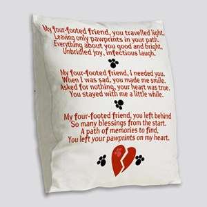 Celebrating the Life of a Four Burlap Throw Pillow