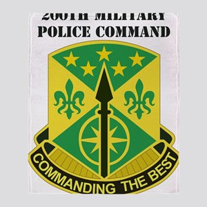 DUI-USARC-200TH MILITARY POLICE COMM Throw Blanket