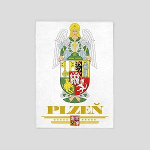 Plzen COA (Flag 10) 5'x7'Area Rug