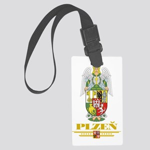 Plzen COA (Flag 10) Large Luggage Tag
