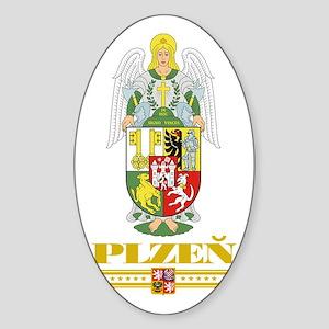 Plzen COA (Flag 10) Sticker (Oval)