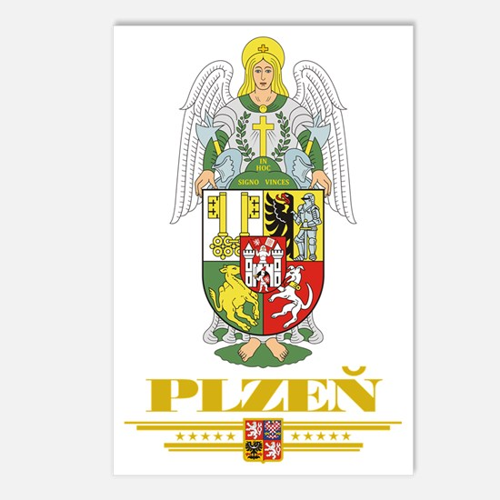 Plzen COA (Flag 10) Postcards (Package of 8)