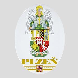 Plzen COA (Flag 10) Oval Ornament