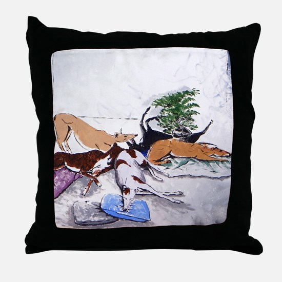 Hound Nap 1 blanket Throw Pillow