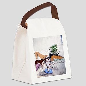 Hound Nap 1 blanket Canvas Lunch Bag