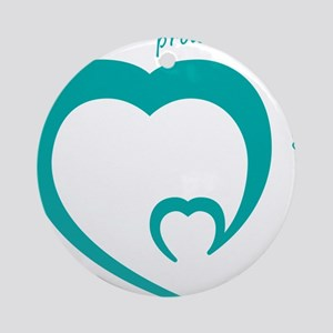 proud miracle dad Round Ornament