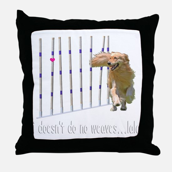 WEAVESmerge2bigM Throw Pillow