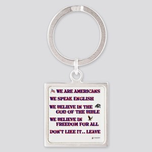 dont like it leave Square Keychain