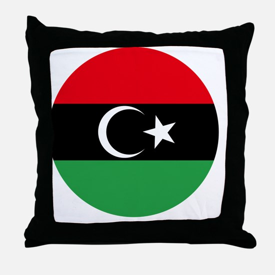 10x10-Free_Libyan_Airforce_Roudel Throw Pillow