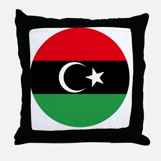 8x10-Free_Libyan_Airforce_Roudel Throw Pillow