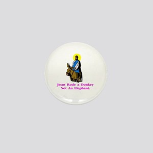 JesusRodeADonkeyXXX Mini Button