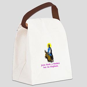 JesusRodeADonkeyXXX Canvas Lunch Bag