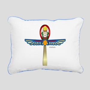 Bast Ankh2 Rectangular Canvas Pillow
