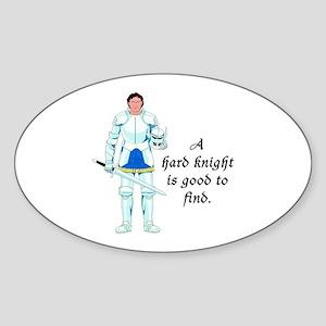 A Hard Knight Oval Sticker