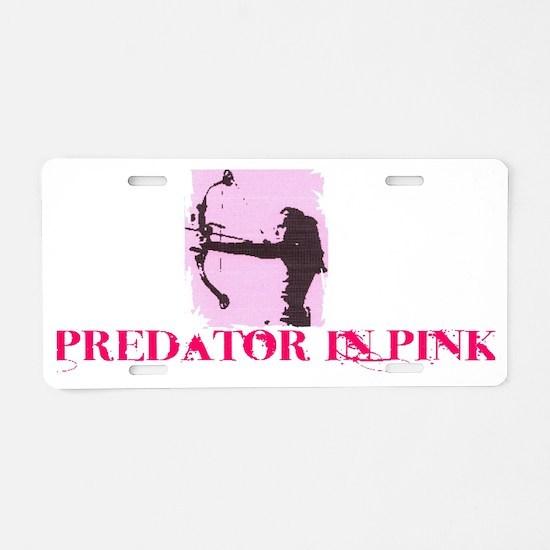 predatorinpink Aluminum License Plate