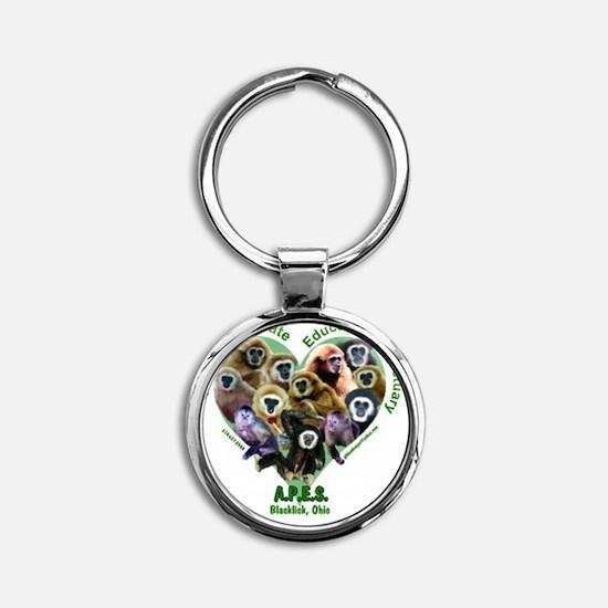 apes-shirt-12-kids3 Round Keychain