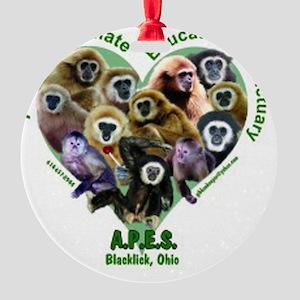 apes-shirt-12-kids3 Round Ornament