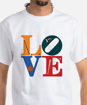 Philly Sports Love White T-Shirt