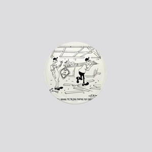 6317_carpenter_cartoon Mini Button