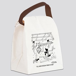 6317_carpenter_cartoon Canvas Lunch Bag