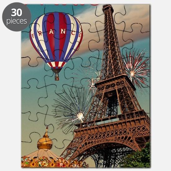 Paris - Carrousel and Eiffel Tower Puzzle