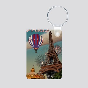 Paris - Carrousel and Eiff Aluminum Photo Keychain