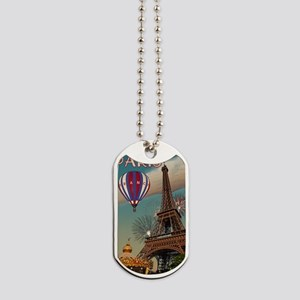 Paris - Carrousel and Eiffel Tower Dog Tags