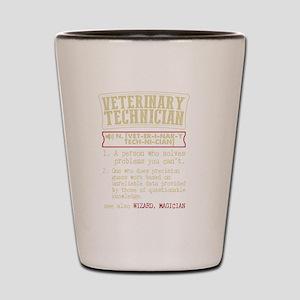 Veterinary Technician Dictionary Term T Shot Glass