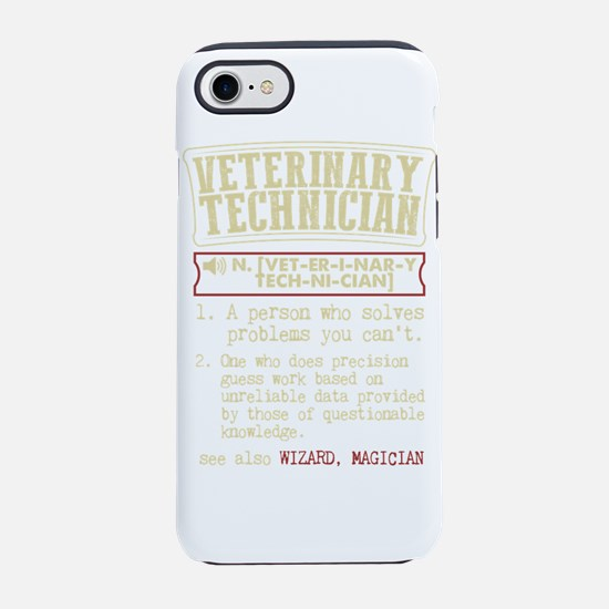 Veterinary Technician Dictiona iPhone 7 Tough Case