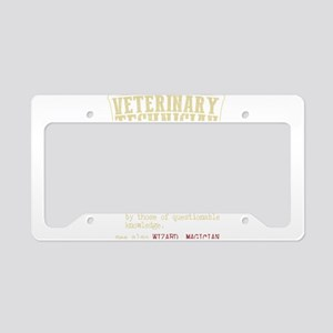 Veterinary Technician Diction License Plate Holder