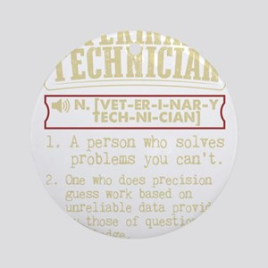 Veterinary Technician Dictionary Te Round Ornament