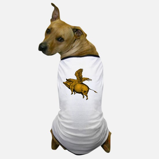 When Pigs Fly Dog T-Shirt