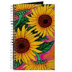 Funky Sunflower Notebook
