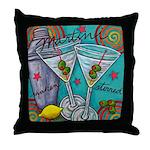 Retro Martini Throw Pillow