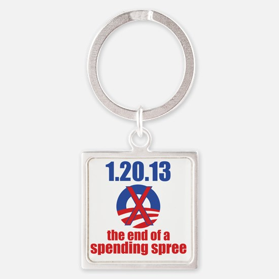 end-of-a-spending-spree-10x10 Square Keychain